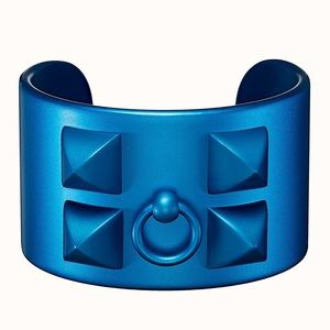 New Hermes Blue Sunset CDC Sunset Aluminum Cuff